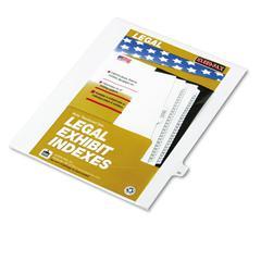 """Kleer-Fax 80000 Series Legal Index Dividers, Side Tab, Printed """"20"""", 25/Pack"""