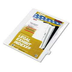 "Kleer-Fax 80000 Series Legal Index Dividers, Side Tab, Printed ""21"", 25/Pack"
