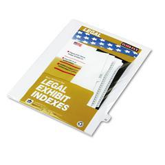 """Kleer-Fax 80000 Series Legal Index Dividers, Side Tab, Printed """"22"""", 25/Pack"""