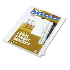 "Kleer-Fax 80000 Series Legal Index Dividers, Side Tab, Printed ""25"", 25/Pack"