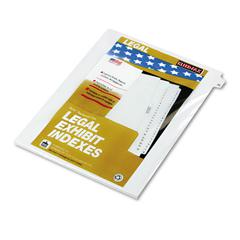 "Kleer-Fax 80000 Series Legal Index Dividers, Side Tab, Printed ""26"", 25/Pack"