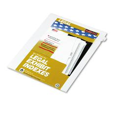 "Kleer-Fax 80000 Series Legal Index Dividers, Side Tab, Printed ""27"", 25/Pack"