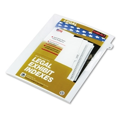"Kleer-Fax 80000 Series Legal Index Dividers, Side Tab, Printed ""28"", 25/Pack"