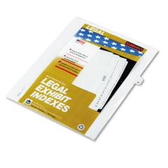 "Kleer-Fax 80000 Series Legal Index Dividers, Side Tab, Printed ""42"", 25/Pack"