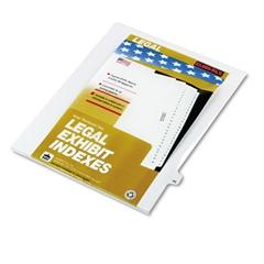 """Kleer-Fax 80000 Series Legal Index Dividers, Side Tab, Printed """"46"""", 25/Pack"""