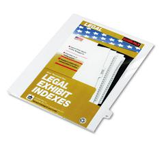 "80000 Series Legal Index Dividers, Side Tab, Printed ""47"", 25/Pack"