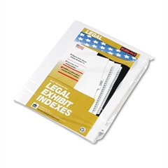 "80000 Series Legal Index Dividers, Side Tab, Printed ""48"", 25/Pack"