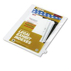 """Kleer-Fax 80000 Series Legal Index Dividers, Side Tab, Printed """"49"""", 25/Pack"""