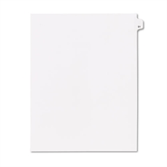 "80000 Series Legal Index Dividers, Side Tab, Printed ""59"", 25/Pack"