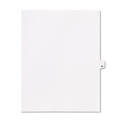 """Kleer-Fax 80000 Series Legal Index Dividers, Side Tab, Printed """"64"""", 25/Pack"""