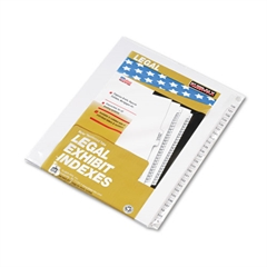 "80000 Series Side Tab Legal Index Divider Set,  Printed ""126""-""150"""
