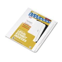 """Kleer-Fax 80000 Series Side Tab Legal Index Divider Set,  Printed """"151""""-""""175"""""""
