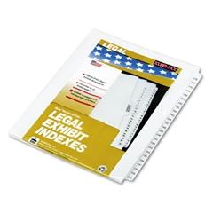 """Kleer-Fax 80000 Series Side Tab Legal Index Divider Set,  Printed """"176""""-""""200"""""""