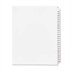 "80000 Series Side Tab Legal Index Divider Set,  Printed ""201""-""225"""