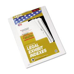 "Kleer-Fax 80000 Series Legal Index Dividers, Bottom Tab, Printed ""Exhibit 3"", 25/Pack"