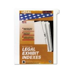"""90000 Series Legal Exhibit Index Dividers, Side Tab, Printed """"1"""", 25/Pack"""
