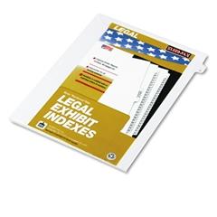 """90000 Series Legal Exhibit Index Dividers, Side Tab, Printed """"3"""", 25/Pack"""