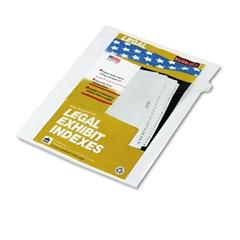 """90000 Series Legal Exhibit Index Dividers, Side Tab, Printed """"5"""", 25/Pack"""