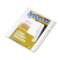 """Kleer-Fax 90000 Series Legal Exhibit Index Dividers, Side Tab, Printed """"7"""", 25/Pack"""