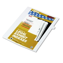 "90000 Series Legal Exhibit Index Dividers, Side Tab, Printed ""8"", 25/Pack"