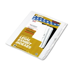 """Kleer-Fax 90000 Series Legal Exhibit Index Dividers, Side Tab, Printed """"11"""", 25/Pack"""