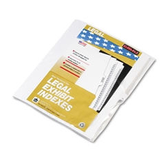 "90000 Series Legal Exhibit Index Dividers, Side Tab, Printed ""13"", 25/Pack"