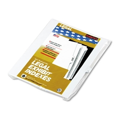 "90000 Series Legal Exhibit Index Dividers, Side Tab, Printed ""14"", 25/Pack"