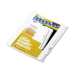 """90000 Series Legal Exhibit Index Dividers, 1/25 Tab, Printed """"16"""", 25/Pack"""