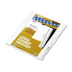 """90000 Series Legal Exhibit Index Dividers, 1/25 Tab, Printed """"17"""", 25/Pack"""
