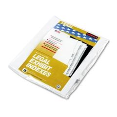 """90000 Series Legal Exhibit Index Dividers, Side Tab, Printed """"18"""", 25/Pack"""