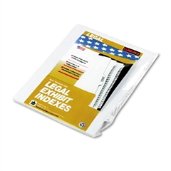 "Kleer-Fax 90000 Series Legal Exhibit Index Dividers, Side Tab, Printed ""21"", 25/Pack"
