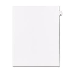 """90000 Series Legal Exhibit Index Dividers, Side Tab, Printed """"28"""", 25/Pack"""