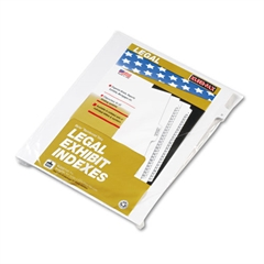"Kleer-Fax 90000 Series Alpha Side Tab Legal Index Divider, Preprinted ""D"", 25/Pack"