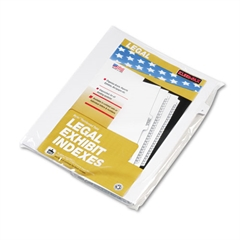 "Kleer-Fax 90000 Series Alpha Side Tab Legal Index Divider, Preprinted ""F"", 25/Pack"