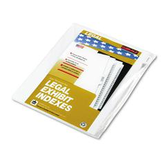 "Kleer-Fax 90000 Series Legal Exhibit Index Dividers, 1/10 Cut Tab, ""Exhibit A"", 25/Pack"