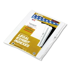 "Kleer-Fax 90000 Series Legal Exhibit Index Dividers, 1/10 Cut Tab, ""Exhibit D"", 25/Pack"