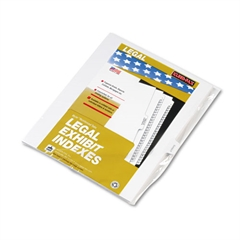 "90000 Series Legal Exhibit Index Dividers, 1/10 Cut Tab, ""Exhibit F"", 25/Pack"