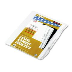 "90000 Series Legal Exhibit Index Dividers, 1/10 Cut Tab, ""Exhibit G"", 25/Pack"