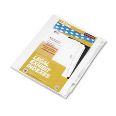 "Kleer-Fax 90000 Series Legal Exhibit Index Dividers, 1/10 Cut Tab, ""Exhibit H"", 25/Pack"