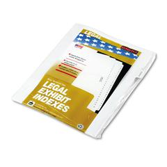 "Kleer-Fax 90000 Series Legal Exhibit Index Dividers, 1/10 Cut Tab, ""Exhibit M"", 25/Pack"
