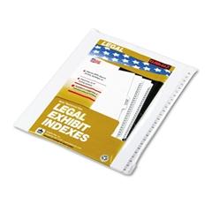 """Kleer-Fax 90000 Series Side Tab Legal Index Divider Set, Printed """"26""""-""""50"""""""