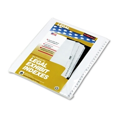 "90000 Series Side Tab Legal Index Divider Set, Printed ""76""-""100"""