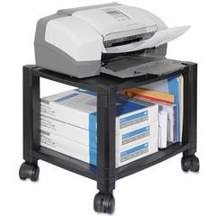 Kantek Mobile Printer Stand, Two-Shelf, 17w x 13-1/4d x 14-1/8h, Black