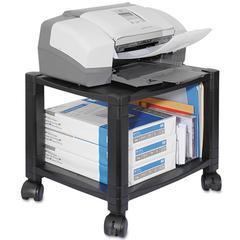 Mobile Printer Stand, Two-Shelf, 17w x 13-1/4d x 14-1/8h, Black