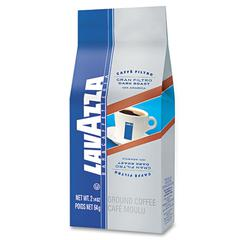 Lavazza Gran Filtro Italian Dark Roast Coffee, 2.25oz, Ground Fraction Pack, 30/Carton