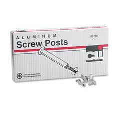 """Charles Leonard Post Binder Aluminum Screw Posts, 3/16"""" Diameter, 1/2"""" Long, 100/Box"""