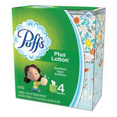 """Plus Lotion Facial Tissue, White, 1-Ply, 8 1/5"""" x 8 2/5"""", 56/Box, 24/Carton"""