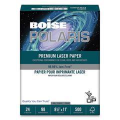 POLARIS Premium Laser Paper, 97 Bright, 3-Hole, 24lb, 8 1/2 x 11, White, 500/RM