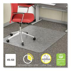 EconoMat Occasional Use Chair Mat for Low Pile Carpet, 45 x 53, Rectangular, CR