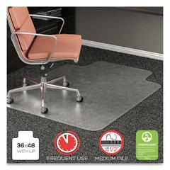 RollaMat Frequent Use Chair Mat, Med Pile Carpet, Roll, 36 x 48, Lipped, CR